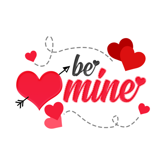 Be Mine Clipart - Valentine's Day PNG Transparent Image - Instant Download