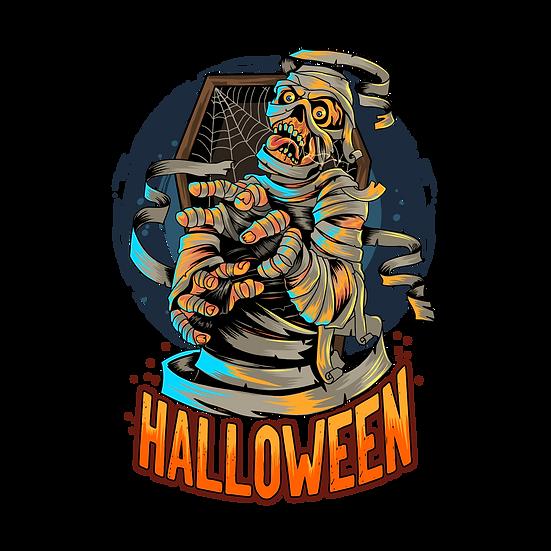 Halloween Skeleton Mummy Printables PNG Image  - Editable / Downloadable