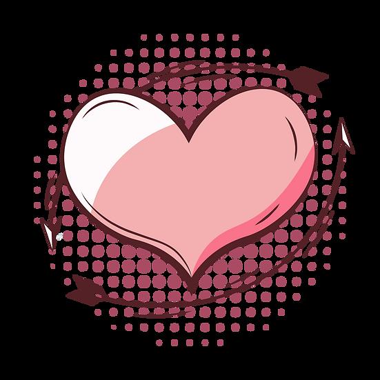 Magnificent Pink Heart - Free PNG Images, Transparent Image Digital Download