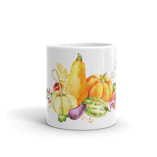 Watercolor Farmhouse Fall Coffee Cup Mug for Coffee / Tea White Ceramic Mugs3