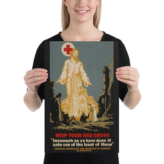 WW1 American Red Cross Propaganda Poster. WWI US Military Memorabilia