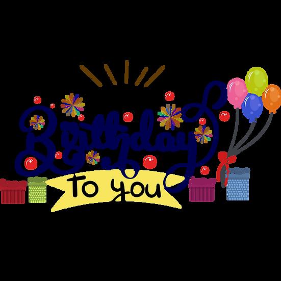 Wondrous Birthday Clipart - PNG Transparent Image - Digital Download