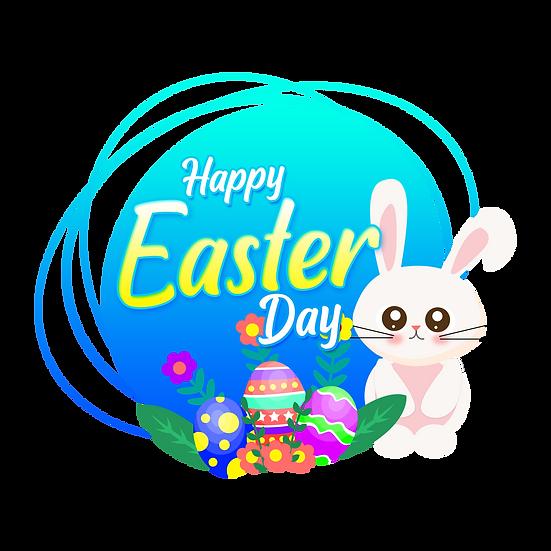 Lovely Easter Greeting Card - PNG Transparent Image - Instant Download