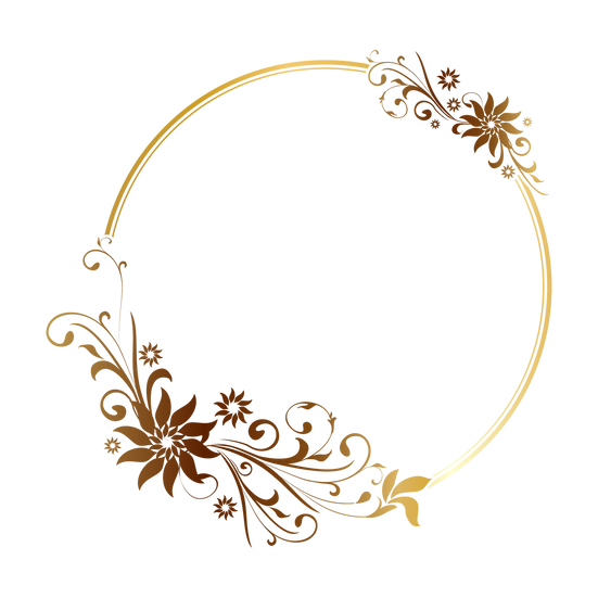 Decorative Circle with Flowers - Free PNG Transparent Image, Instant Download