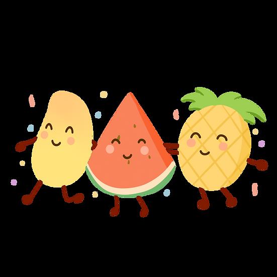 Amusing Fruits Clipart - Free PNG Images, Transparent Image Digital Download