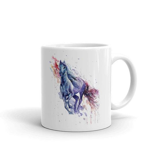 Watercolor Mustang Horse Coffee Cup Mug for Coffee / Tea White Ceramic Mugs1