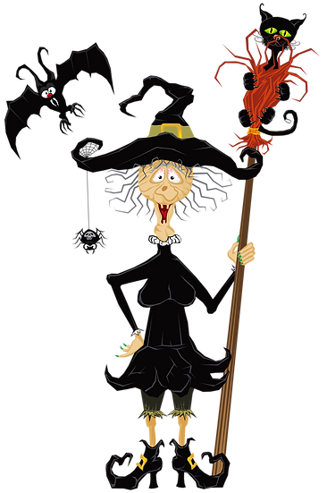 Funny Halloween Witch Free PNG Images - Free Digital Image Download