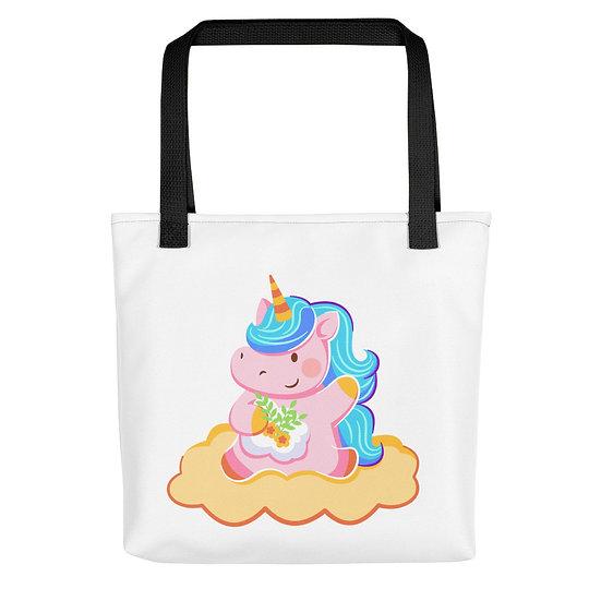 Cute Unicorn in the Clouds Tote bag