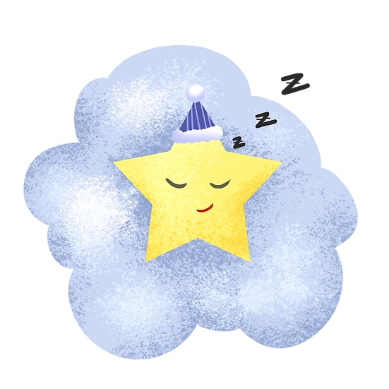 Sleeping Star Clipart - Free PNG Images, Transparent Image Instant Download
