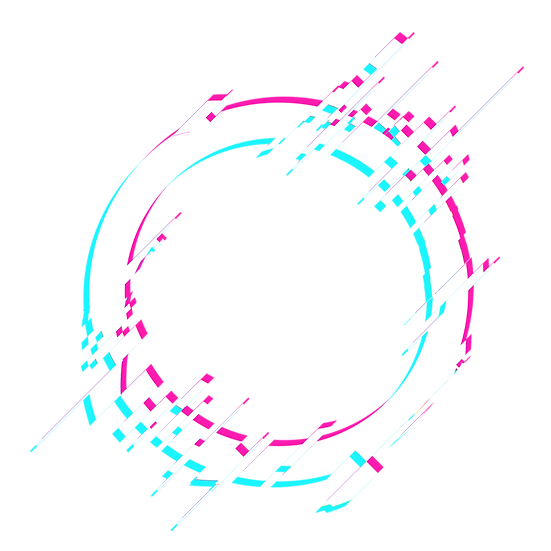 Bright Circle with Glitch Effect - Free PNG Transparent Image, Instant Download