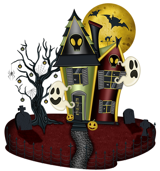 Halloween Party House Free PNG Images - Free Digital Image Download