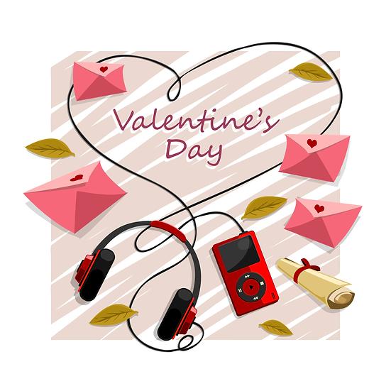 Valentine's Day Wonderful Greeting Card - Transparent Image - Instant Download