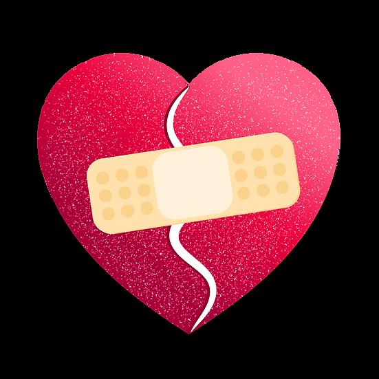 Broken Heart Clipart - Free PNG Images, Transparent Image Instant Download
