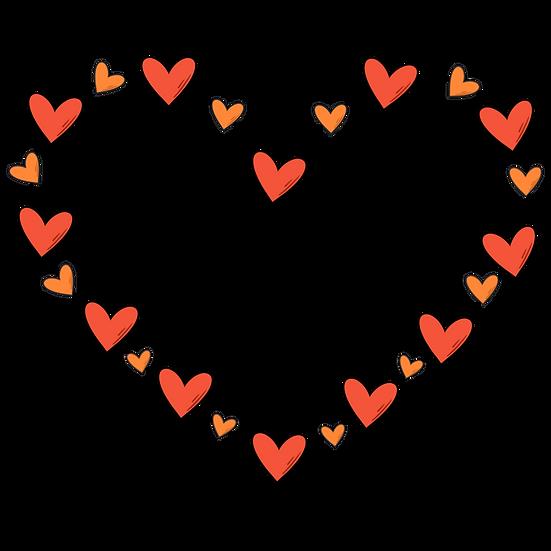 Heart-Shaped Frame - Valentine's Day PNG Transparent Image - Instant Download