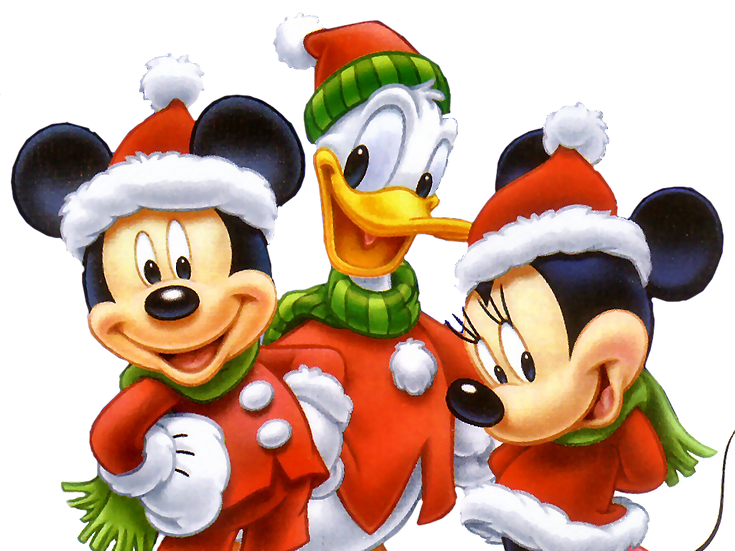 Christmas Time with Mickey Mouse Free PNG Images - Free Digital Image Download