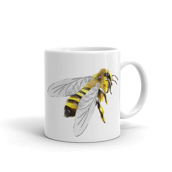 Watercolor Bee Coffee Cup Mug for Coffee / Tea White Ceramic Mugs 11/15 oz1