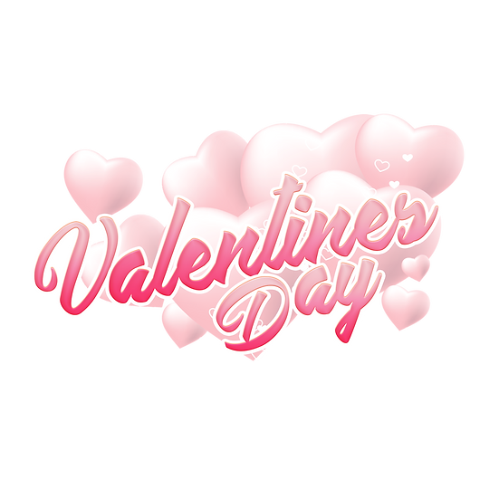 Valentines Day Pink Inscription PNG Transparent Image - Instant Download