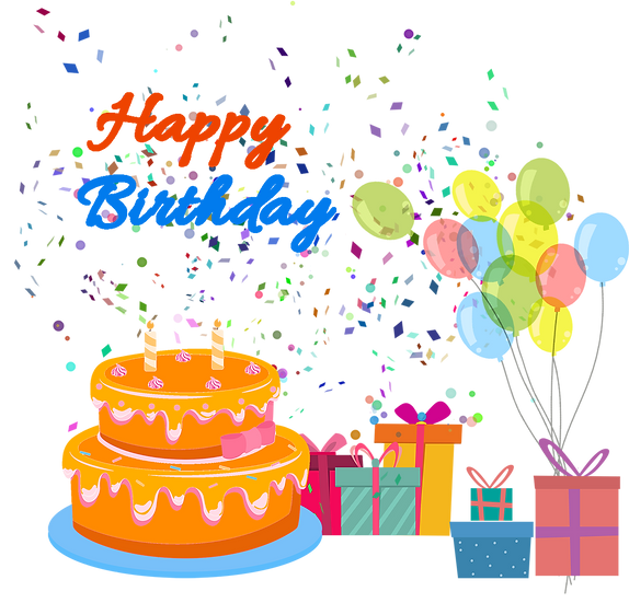 Lively Birthday Greeting Card - PNG Transparent Image - Digital Download