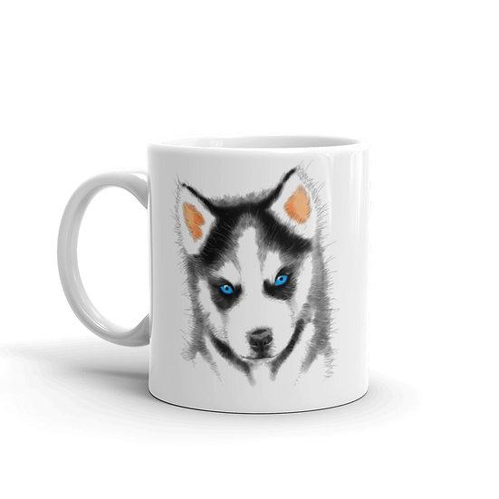 Watercolor Husky Coffee Cup Mug for Coffee / Tea White Ceramic Mugs 11/15 oz1