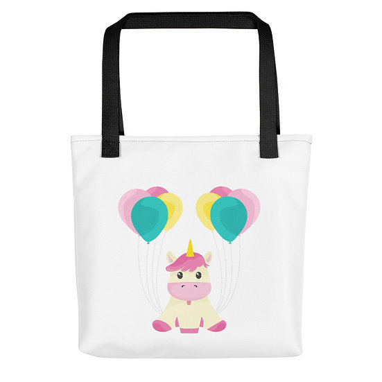 Unicorn with Balloons Tote bag