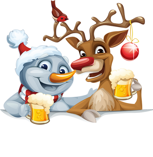 Gathering of Snowman and Reindeer Free PNG Images - Free Digital Image Download