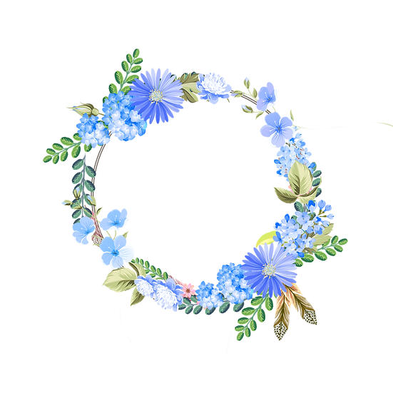 Romantic Circle with Flowers - Free PNG Transparent Image, Digital Download