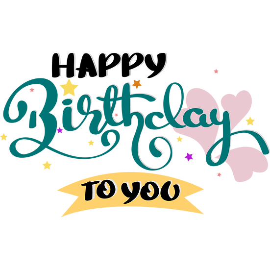 Happy Birthday Magic Clipart - PNG Transparent Image - Digital Download