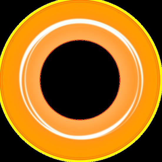 Orange Shining Circle - Free PNG Images, Transparent Image Digital Download