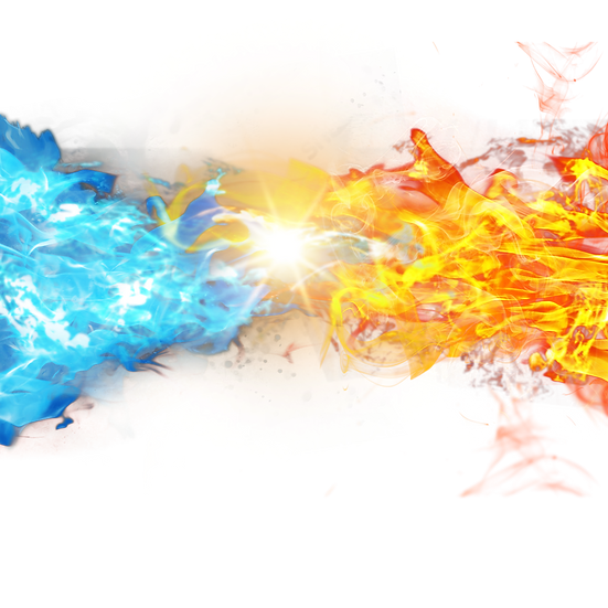 Ice and Fire Clipart - Free PNG Images, Transparent Image Digital Download