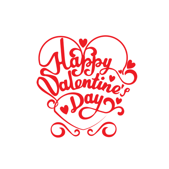 Happy Valentine's Day Great Inscription PNG Image - Instant Download