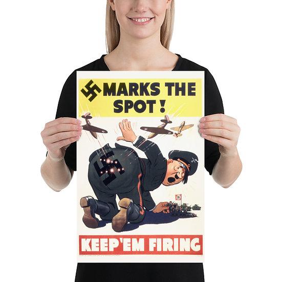 WW2 American Antifa Propaganda Poster. WWII US Anti Nazi Anti Hitler Reprint