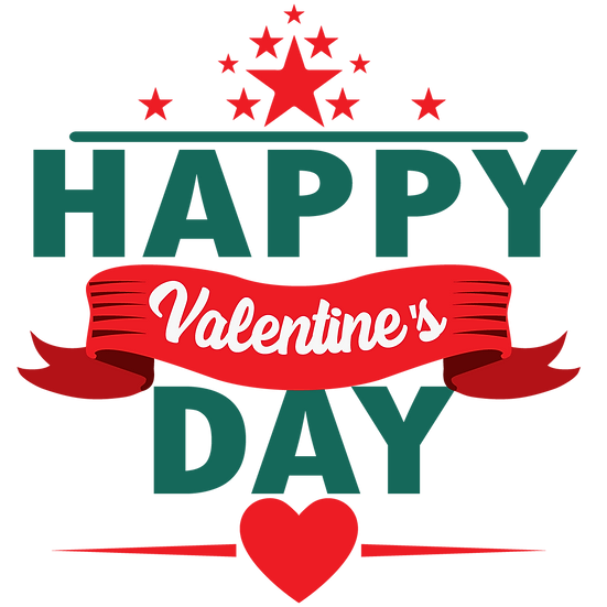 Happy Valentine's Day Incredible Clipart - Transparent Image - Instant Download