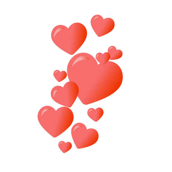 A Bunch of Hearts - Free PNG Images, Transparent Image Instant Download