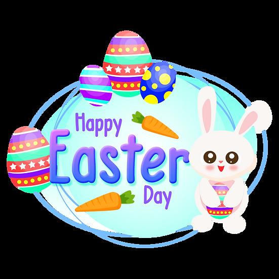 Amusing Easter Greeting Card - PNG Transparent Image - Instant Download