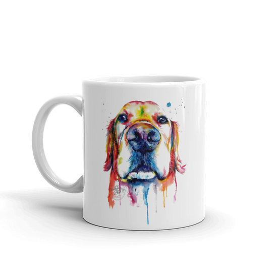 Watercolor Cute Dog Coffee Cup Mug for Coffee / Tea White Ceramic Mugs 11/15 oz1