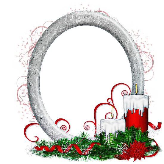 Christmas Candles Frame Free PNG Images - Free Digital Image Download