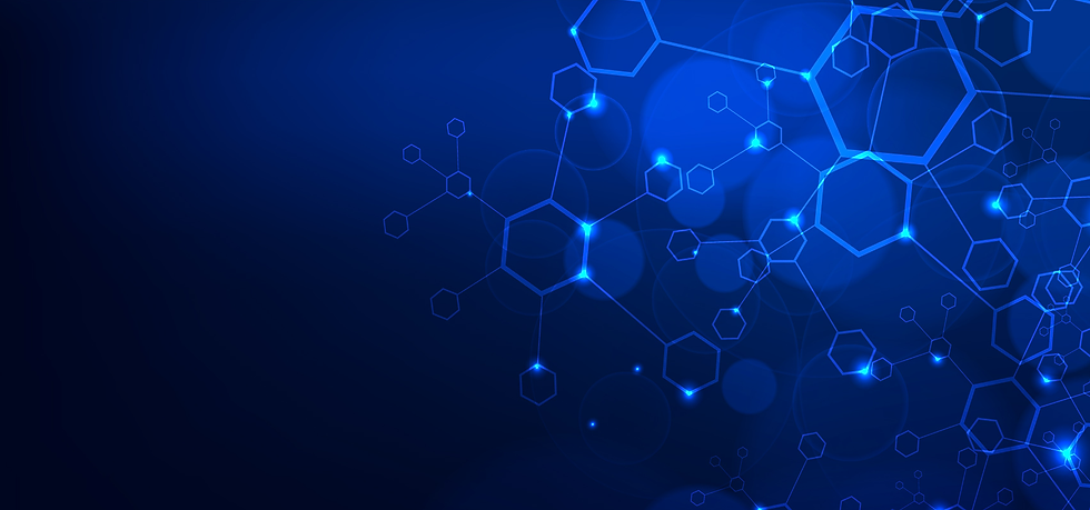 Blue Molecular Structure Background - Free PNG Images, Instant Download