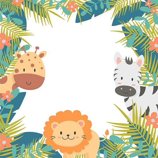 Animals in the Jungle Background - Free PNG Images, Instant Download