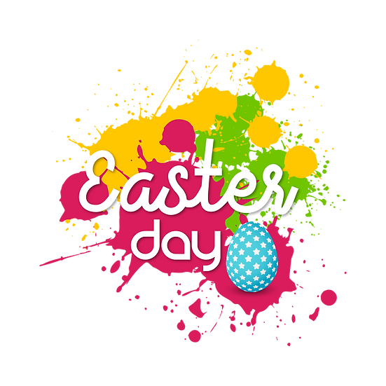Easter Day White Inscription - PNG Transparent Image - Instant Download