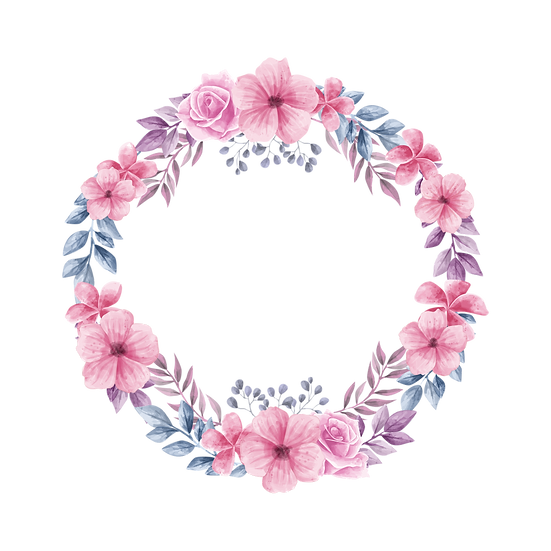 Floral Watercolor Circle - Free PNG Images, Transparent Image Instant Download