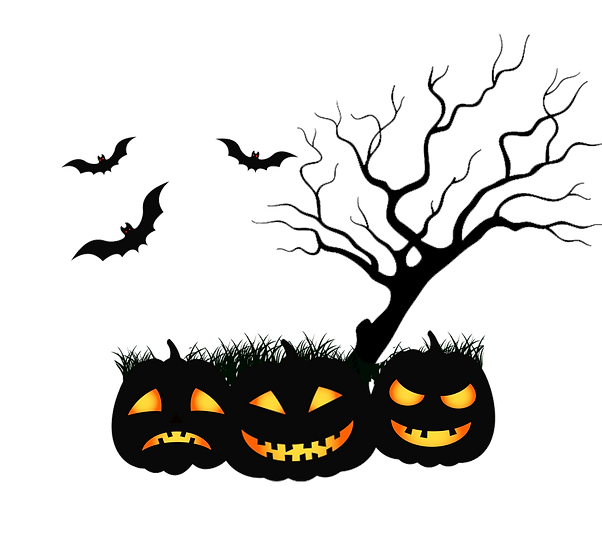 Halloween Tree with Pumpkins Free PNG Images - Free Digital Image Download