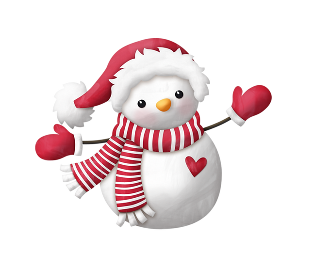 Lovely Christmas Snowman Free PNG Images - Free Digital Image Download