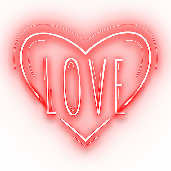 Neon Effect Heart - Free PNG Images, Transparent Image Instant Download