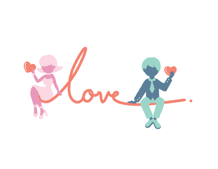 The Thread of Fate - Valentine's Day PNG Transparent Image - Instant Download