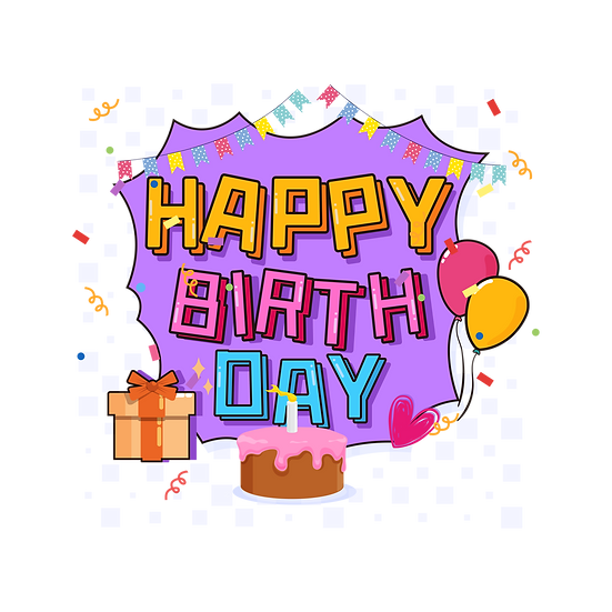 Sweet Birthday Clipart - PNG Transparent Image - Digital Download