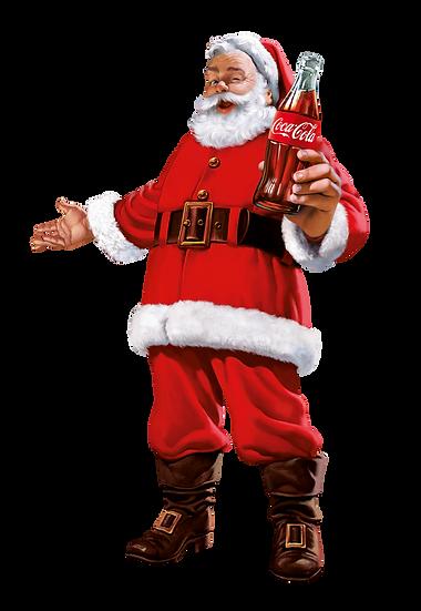 Santa Claus Drinks Coke Free PNG Images - Free Digital Image Download