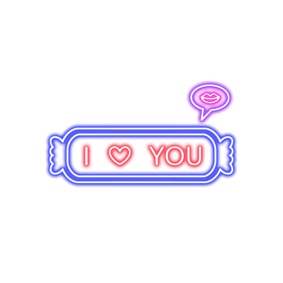 I Love You Neon Inscription - Valentine's Day PNG Image - Instant Download