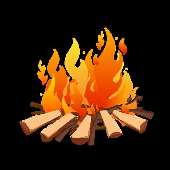 Fire Wood Illustration - Free PNG Images, Transparent Image Digital Download