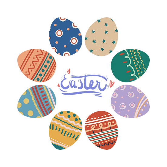 Brilliant Easter Greeting Card - PNG Transparent Image - Instant Download