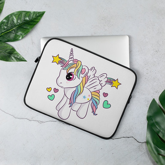 Little Cute Unicorn Laptop Sleeve for MacBook, HP, ACER, ASUS, Dell, Lenovo